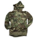 kinder camouflage fleece vest met rits