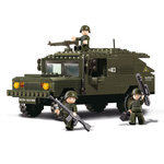Pantser Hummer SUV terrein wagen leger speelgoed Sluban