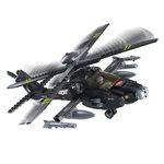 Apache helikopter van het leger speelgoed Sluban