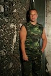 Camouflage tank top t-shirt