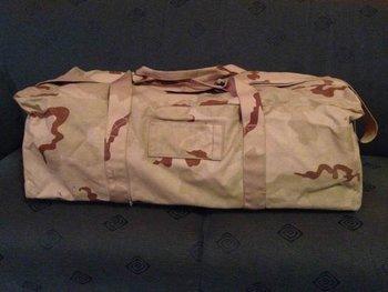 Weekendtas leger gebruikt in desert camouflage