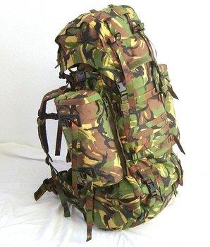 Rugzak Defensie /  leger camouflage Saracen 120 liter gebruikt