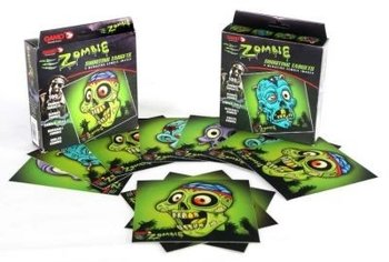 Zombie schiet kaarten 14 cm 100 stuks