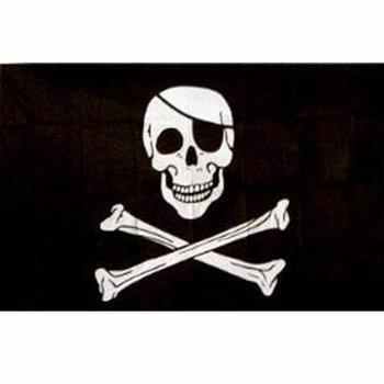 Piraten vlag doodshoofd / doodskop