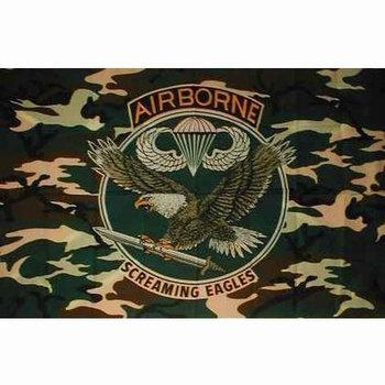 Camouflage vlag Airborne met adelaar