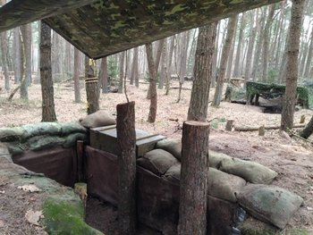 Afdek zeil camouflage 3m x 1.90m