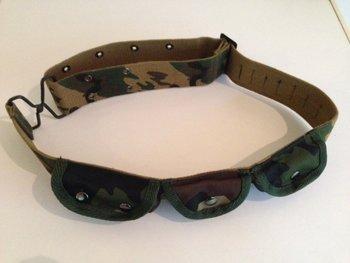 kinder koppel riem leger camouflage met tasjes