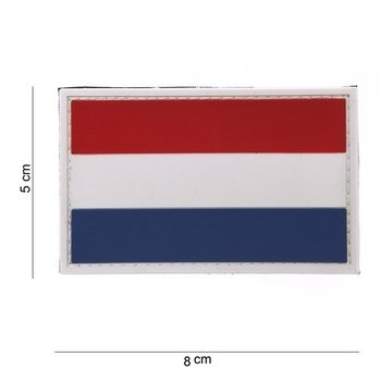 Patch Nederlandse vlag Holland klittenband PVC art. 11180