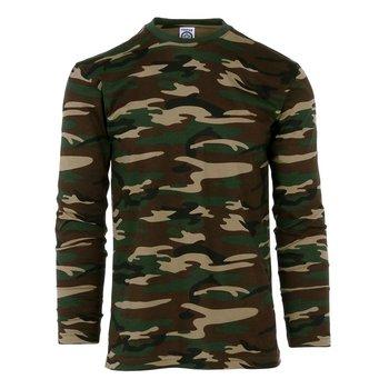 T-shirt leger camouflage woodland met lange mouwen