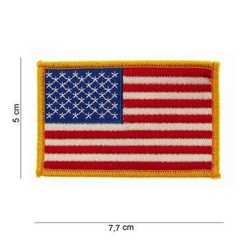 Embleem Patch Amerikaanse vlag USA stof gouden rand