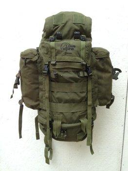 ZELDZAAM Lowe Alpine Saracen 120 liter rugzak defensie / leger olijf groen gebruikt
