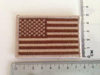 Embleem Patch Amerikaanse vlag USA stof in desert kleuren art. 1020