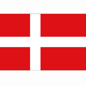 Deense vlag Denemarken