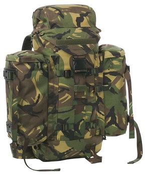 Strike Rugzak leger / defensie 60 liter gebruikt camouflage woodland
