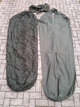 M 90 leger slaapzak met goretex hoes gebruikt