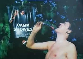 Camping douche