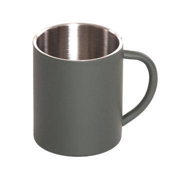 drink beker / cup / mok RVS met groene buitenkant