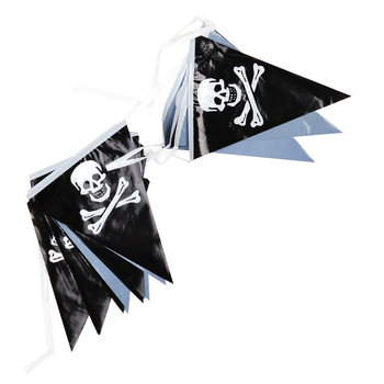 Vlag lint slinger met piraten vlaggetjes