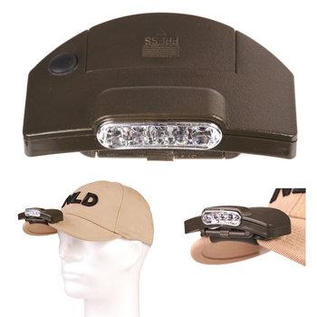 hoofdlamp led clip-on voor op een baseball cap