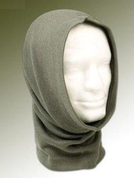 Wollen col sjaal grijs / groen nieuw