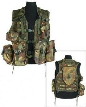Tactical modulair molle OPS vest woodland camouflage met 8 pouches uit het leger maat L