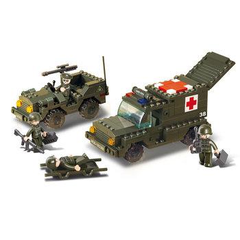 Ambulance en jeep leger speelgoed Sluban B6000