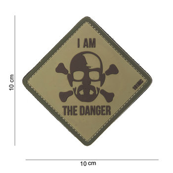 Patch Breaking Bad groen / khaki I am the danger, pvc met klittenband