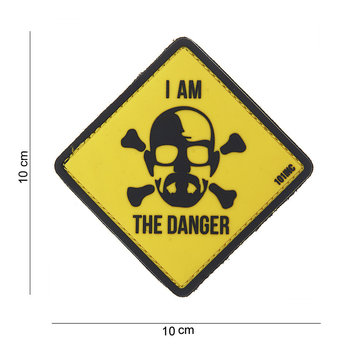 Patch Breaking Bad Geel / zwart I am the danger, pvc met klittenband