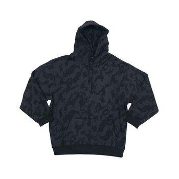 night camouflage fleece vest hoodie met rits