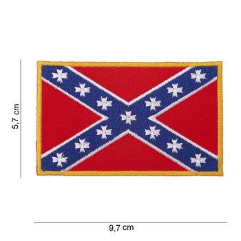 Rebel vlag embleem patch van stof art. nr. 1008