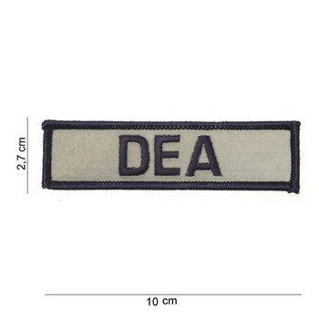 DEA reflecterend embleem patch van stof art. nr. 2017
