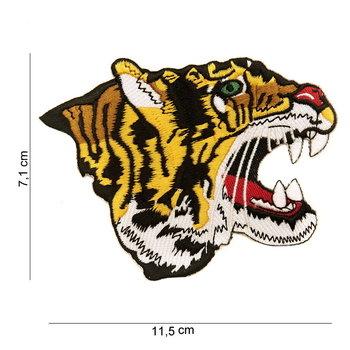 Tijger embleem patch van stof art. nr. 2048