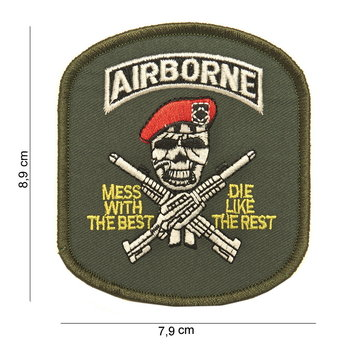 Airborne mess with the best patch embleem van stof art. nr. 3057