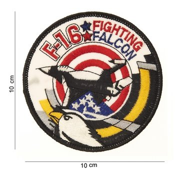 F-16 fighting falcon patch embleem van stof art. nr. 4014