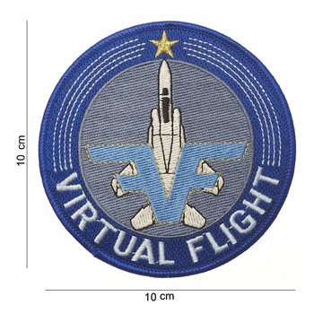 Virtual Flight patch embleem van stof art. nr. 4022