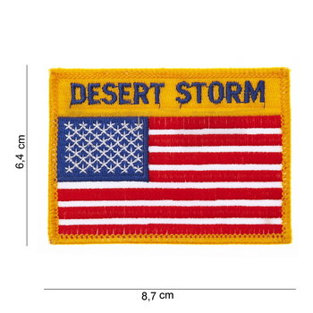 Embleem Patch Amerikaanse vlag USA Desert Storm art no 1015