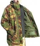 Parka bilaminaat camouflage leger jas gebruikt uit het Nederlandse leger