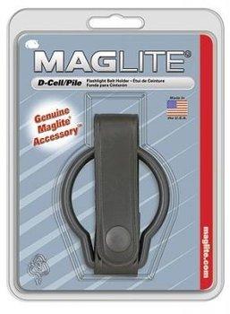leren zak lamp houder / ring voor koppel origineel Maglite D Cell