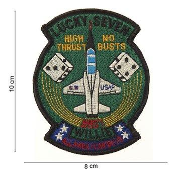 USAF Lucky Seven embleem patch van stof art. nr. 4066