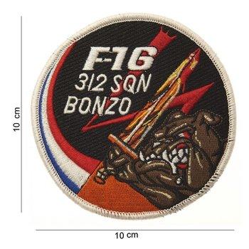 F-16 Bonzo embleem patch van stof art. nr. 4008