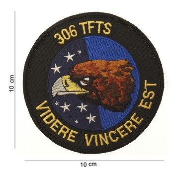 Adelaar 306 TFTS embleem patch van stof art. nr. 4004