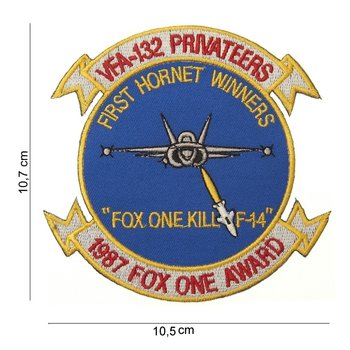 Fox one kill F-14 embleem patch van stof art. nr. 4032