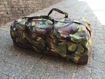 Weekendtas leger camouflage 90 liter nieuwe model met rugzakbanden gebruikt
