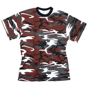 T-shirt leger camouflage red hot