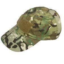 Tactical cap / leger pet met klittenband strook multi camouflage