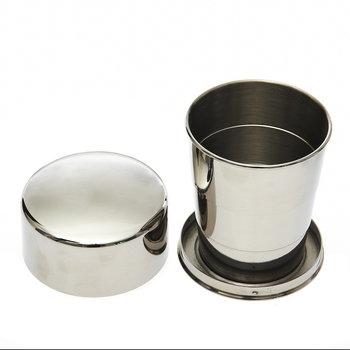 drink beker / cup / mok RVS uitschuifbaar telescoop klein 50 ml