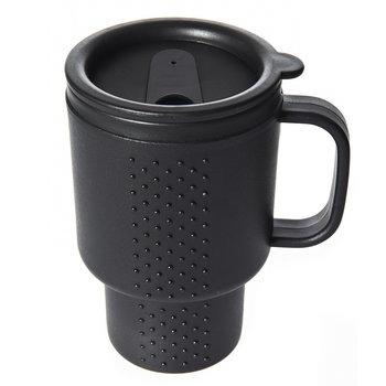 drink reis beker / mok groot zwart afsluitbaar