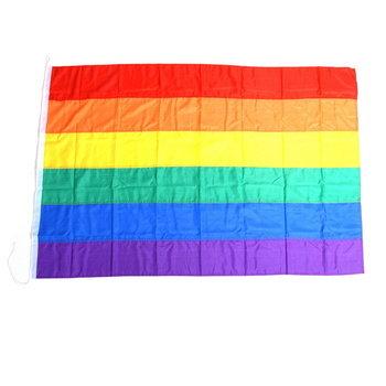 Gay pride regenboog vlag groot