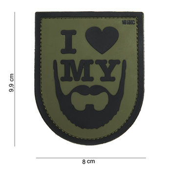 Patch I love my beard, pvc met klittenband art no 14043