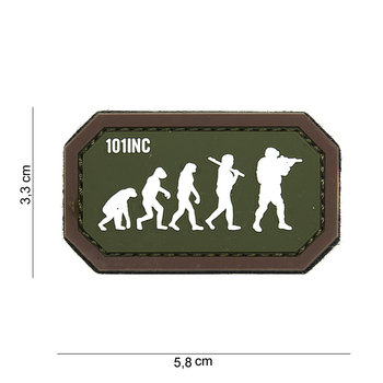 Patch  evolution airsoft bruin groen, pvc met klittenband art no 14071